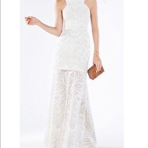 BCBG Max Azria. Cream white dress Everlie Burnout